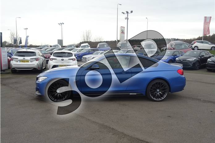 Image six of this 2016 BMW 4 Series Diesel Coupe 435d xDrive M Sport 2dr Auto (Professional Media) in Individual paint - Tanzanite blue at Listers Toyota Lincoln