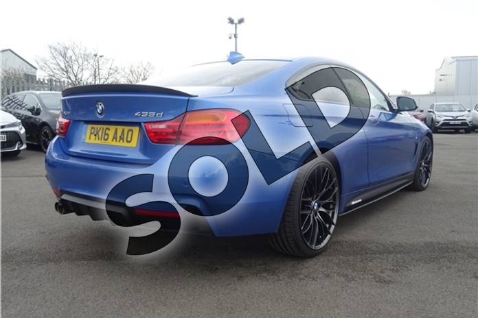 Image nine of this 2016 BMW 4 Series Diesel Coupe 435d xDrive M Sport 2dr Auto (Professional Media) in Individual paint - Tanzanite blue at Listers Toyota Lincoln