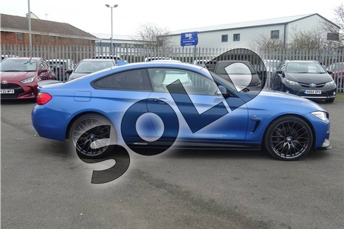 Image ten of this 2016 BMW 4 Series Diesel Coupe 435d xDrive M Sport 2dr Auto (Professional Media) in Individual paint - Tanzanite blue at Listers Toyota Lincoln