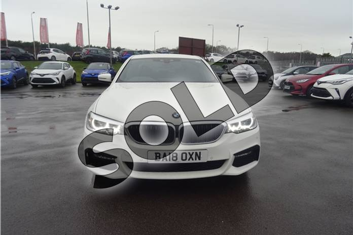 Image two of this 2018 BMW 5 Series Diesel Saloon 520d M Sport 4dr Auto in Solid - Alpine white at Listers Toyota Lincoln