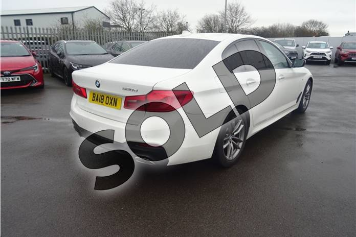 Image nine of this 2018 BMW 5 Series Diesel Saloon 520d M Sport 4dr Auto in Solid - Alpine white at Listers Toyota Lincoln