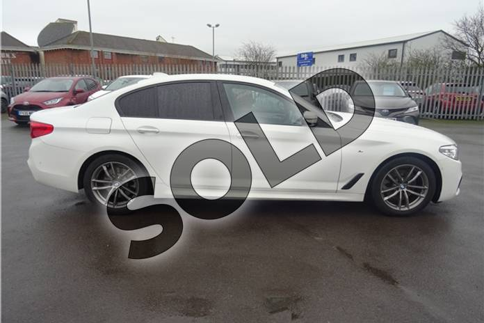 Image ten of this 2018 BMW 5 Series Diesel Saloon 520d M Sport 4dr Auto in Solid - Alpine white at Listers Toyota Lincoln