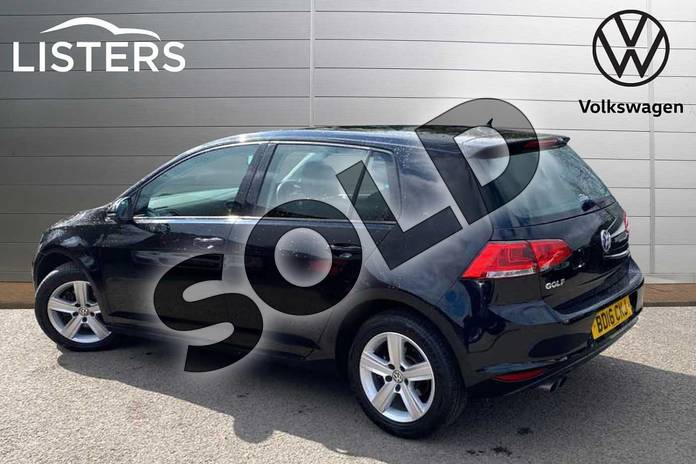 Image three of this 2016 Volkswagen Golf Diesel Hatchback 2.0 TDI Match Edition 5dr in Deep Black Pearl Effect at Listers Volkswagen Coventry