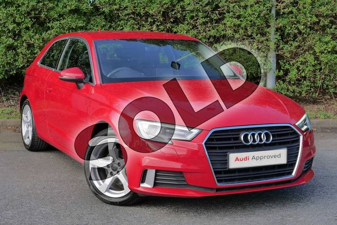 2017 Audi A3 Hatchback 1.4 TFSI Sport 3dr in Tango Red Metallic at Worcester Audi