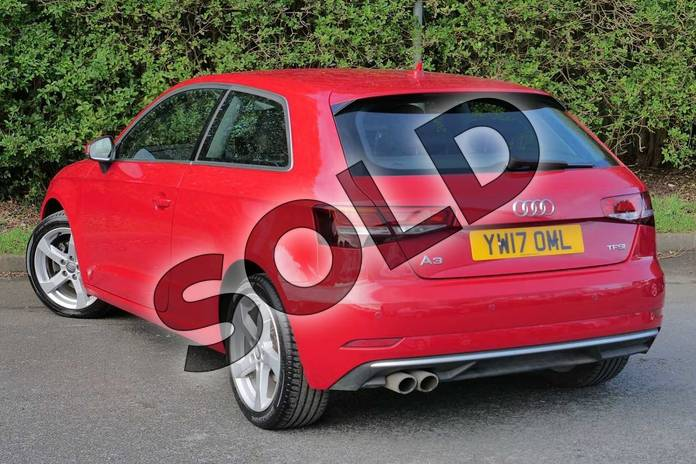 Image three of this 2017 Audi A3 Hatchback 1.4 TFSI Sport 3dr in Tango Red Metallic at Worcester Audi