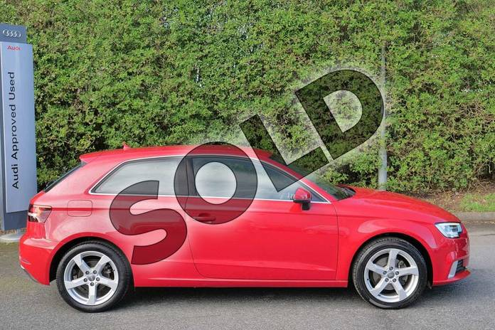 Image four of this 2017 Audi A3 Hatchback 1.4 TFSI Sport 3dr in Tango Red Metallic at Worcester Audi