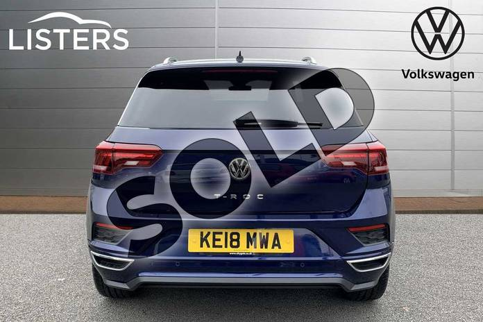 Image nine of this 2018 Volkswagen T-Roc Hatchback 1.5 TSI EVO R-Line 5dr in Atlantic Blue at Listers Volkswagen Stratford-upon-Avon