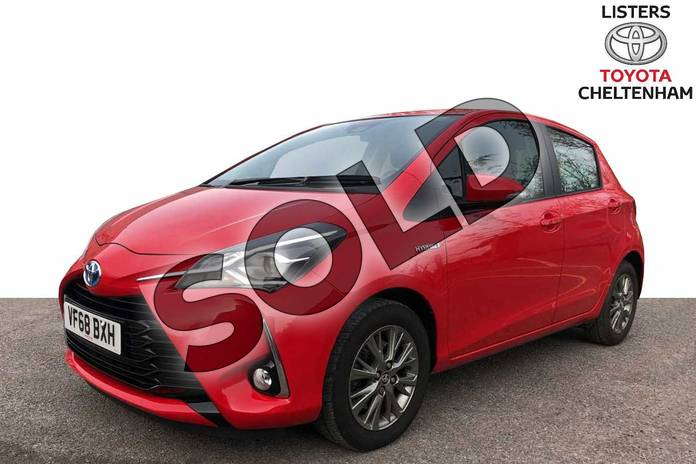 Image three of this 2019 Toyota Yaris Hatchback 1.5 VVT-i Icon 5dr CVT in Red at Listers Toyota Cheltenham