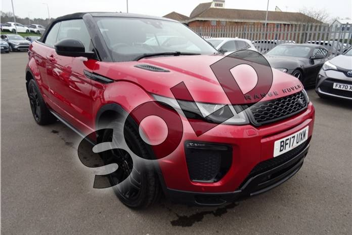 Picture of Range Rover Evoque 2.0 TD4 HSE Dynamic 2dr Auto in Metallic - Firenze red