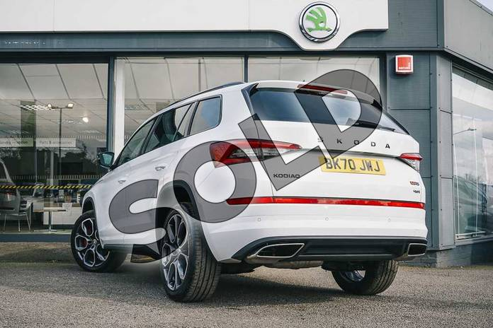 Image three of this 2020 Skoda Kodiaq Diesel Estate 2.0 BiTDI 239 vRS 4x4 5dr DSG (7 Seat) in Candy White at Listers ŠKODA Coventry