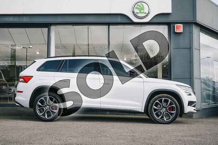 Image four of this 2020 Skoda Kodiaq Diesel Estate 2.0 BiTDI 239 vRS 4x4 5dr DSG (7 Seat) in Candy White at Listers ŠKODA Coventry