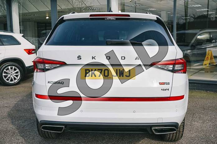 Image nine of this 2020 Skoda Kodiaq Diesel Estate 2.0 BiTDI 239 vRS 4x4 5dr DSG (7 Seat) in Candy White at Listers ŠKODA Coventry