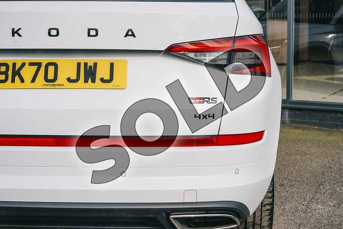 Image eleven of this 2020 Skoda Kodiaq Diesel Estate 2.0 BiTDI 239 vRS 4x4 5dr DSG (7 Seat) in Candy White at Listers ŠKODA Coventry