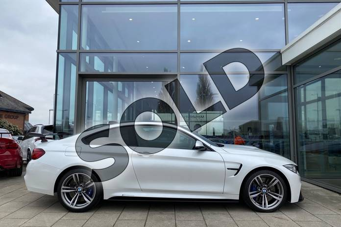 Image three of this 2021 BMW M4 Series M4 Coupe in Mineral White at Listers King's Lynn (BMW)