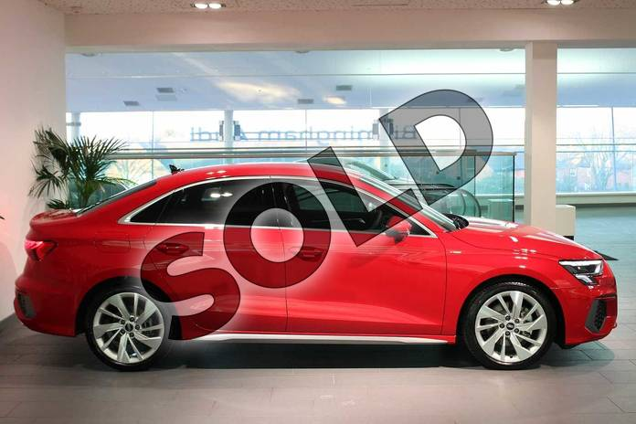 Image four of this 2021 Audi A3 Saloon 35 TFSI S line 4dr S Tronic in Tango Red Metallic at Birmingham Audi