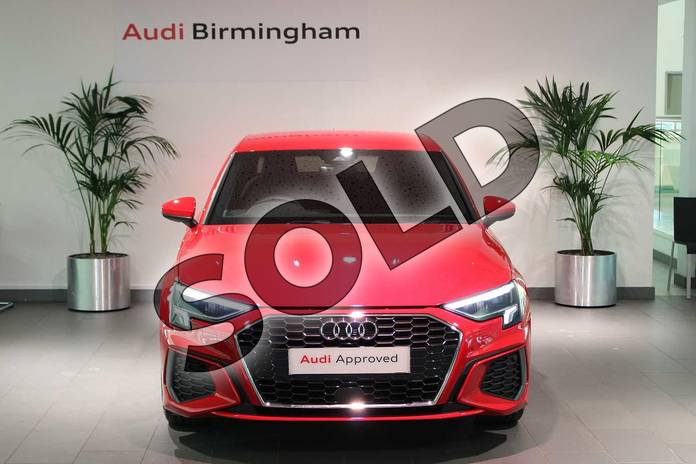 Image seven of this 2021 Audi A3 Saloon 35 TFSI S line 4dr S Tronic in Tango Red Metallic at Birmingham Audi