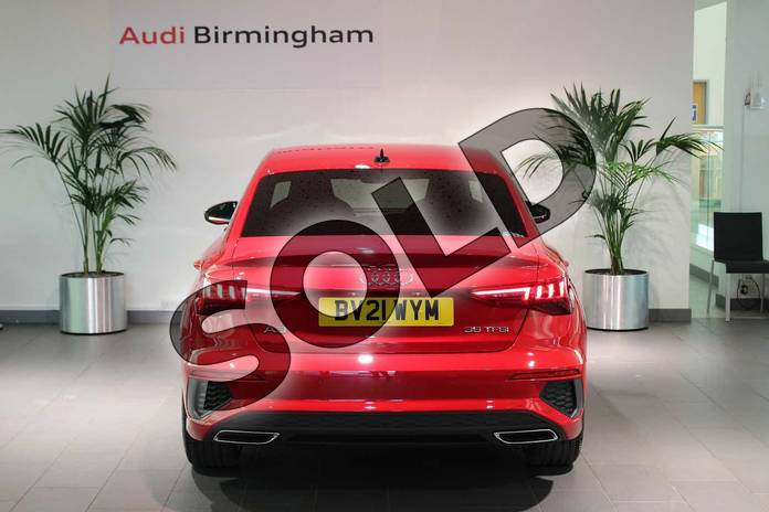 Image fourteen of this 2021 Audi A3 Saloon 35 TFSI S line 4dr S Tronic in Tango Red Metallic at Birmingham Audi