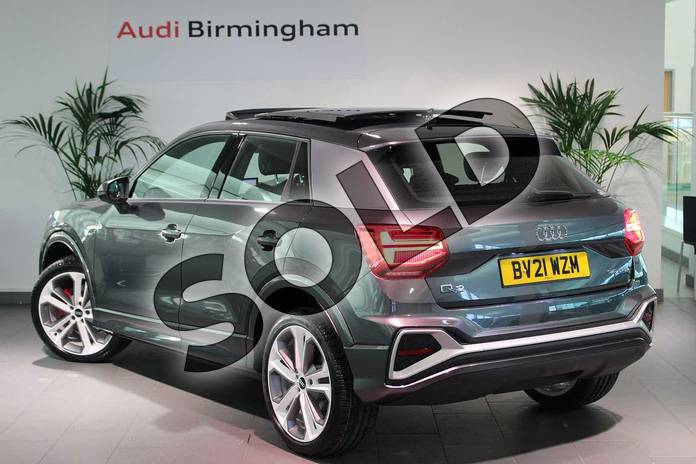 Image three of this 2021 Audi Q2 35 TFSI S Line 5dr S Tronic in Daytona Grey Pearlescent at Birmingham Audi