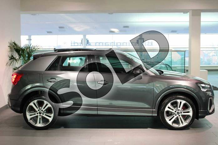 Image four of this 2021 Audi Q2 35 TFSI S Line 5dr S Tronic in Daytona Grey Pearlescent at Birmingham Audi