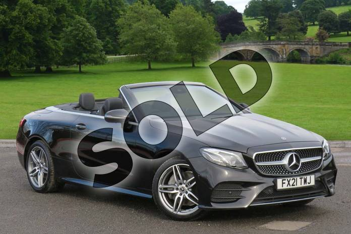 2021 Mercedes-Benz E Class Diesel Cabriolet E220d AMG Line Premium 2dr 9G-Tronic in obsidian black metallic at Mercedes-Benz of Boston