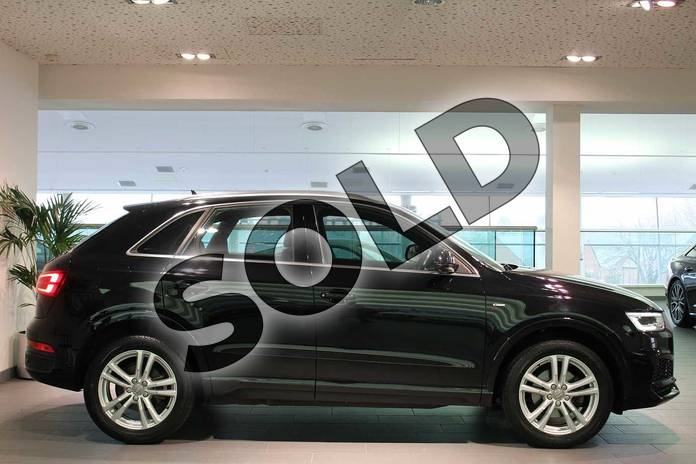 Image four of this 2017 Audi Q3 Estate Special Editions 2.0 TDI S Line Edition 5dr in Myth Black Metallic at Birmingham Audi