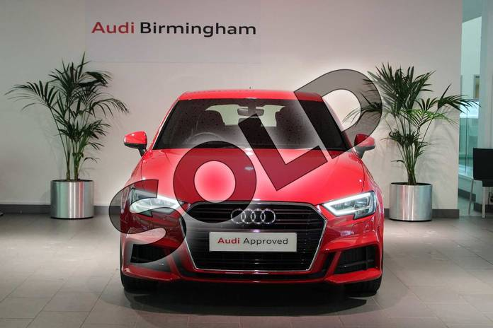 Image seven of this 2018 Audi A3 Sportback 30 TFSI 116 S Line 5dr S Tronic in Tango Red Metallic at Birmingham Audi