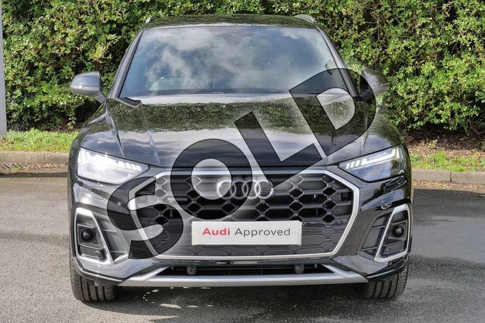 Image seven of this 2021 Audi Q5 40 TDI Quattro S Line 5dr S Tronic in Myth Black Metallic at Worcester Audi