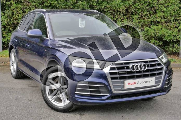 Picture of Audi Q5 40 TDI Quattro S Line 5dr S Tronic in Navarra Blue Metallic