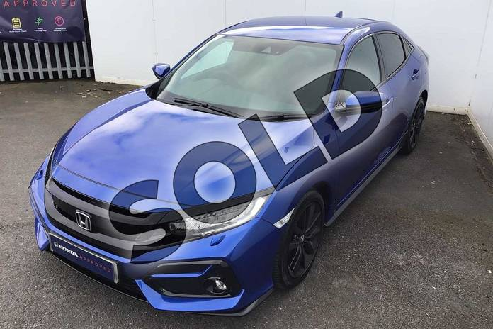 Image ten of this 2021 Honda Civic Hatchback 1.5 VTEC Turbo Sport 5dr in Brilliant Sporty Blue at Listers Honda Solihull