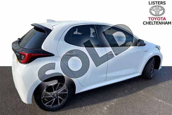 Image two of this 2021 Toyota Yaris Hatchback 1.5 Hybrid Design 5dr CVT in White at Listers Toyota Cheltenham