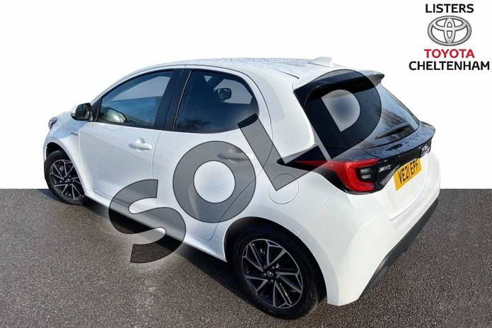 Image three of this 2021 Toyota Yaris Hatchback 1.5 Hybrid Design 5dr CVT in White at Listers Toyota Cheltenham