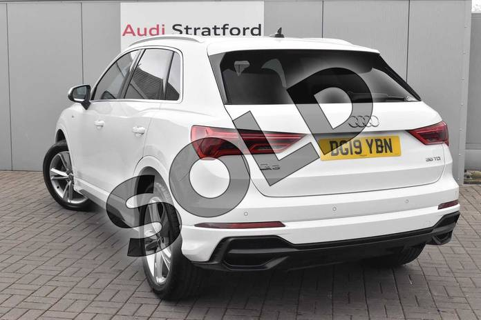 Image three of this 2019 Audi Q3 Diesel Estate 35 TDI S Line 5dr S Tronic in Ibis White at Stratford Audi