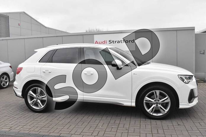 Image four of this 2019 Audi Q3 Diesel Estate 35 TDI S Line 5dr S Tronic in Ibis White at Stratford Audi