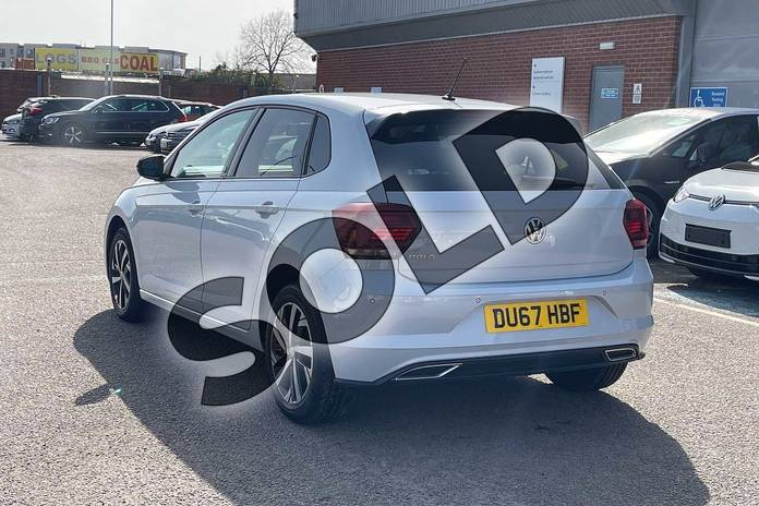Image three of this 2018 Volkswagen Polo Hatchback 1.0 TSI 95 Beats 5dr in White Silver at Listers Volkswagen Loughborough