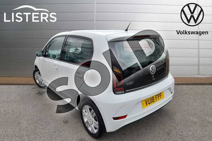 Image three of this 2018 Volkswagen Up Hatchback 1.0 High Up 5dr in Pure White at Listers Volkswagen Worcester
