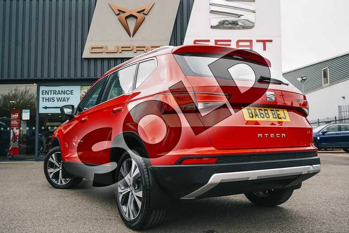 Image three of this 2019 SEAT Ateca Diesel Estate 2.0 TDI SE Technology (EZ) 5dr in Red at Listers SEAT Coventry