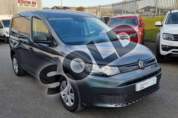 2021 Volkswagen Caddy Cargo C20 Petrol 1.5 TSI 114PS Commerce Plus Van in Indium Grey at Listers Volkswagen Van Centre Worcestershire