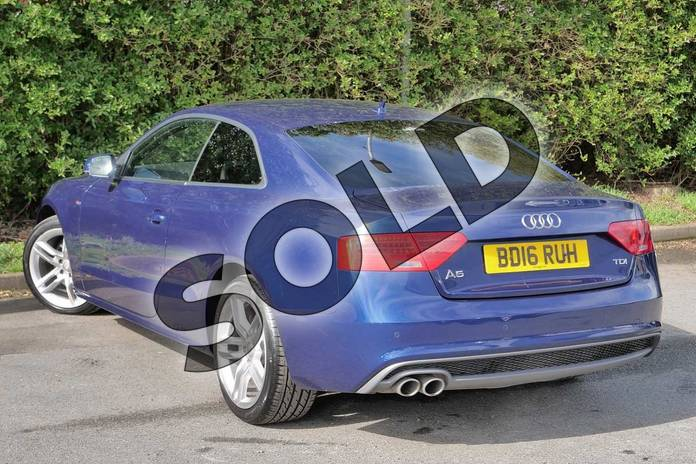 Image three of this 2016 Audi A5 Diesel Coupe 2.0 TDI 190 S Line 2dr Multitronic (Nav) in Scuba Blue Metallic at Worcester Audi