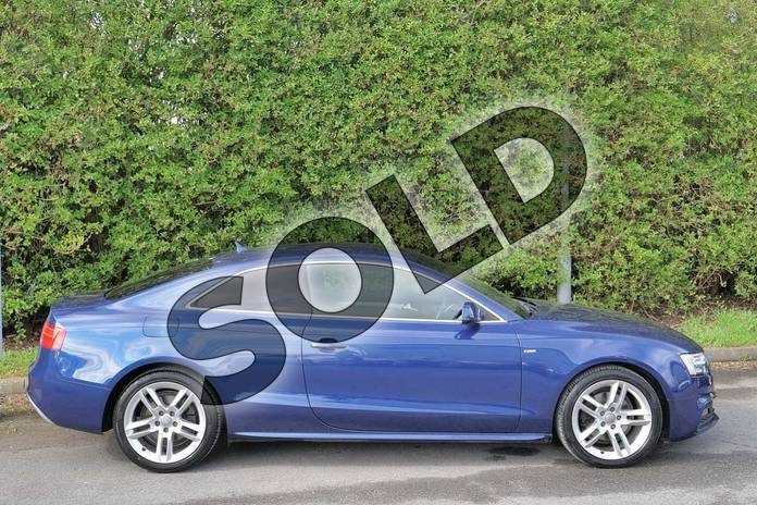 Image four of this 2016 Audi A5 Diesel Coupe 2.0 TDI 190 S Line 2dr Multitronic (Nav) in Scuba Blue Metallic at Worcester Audi