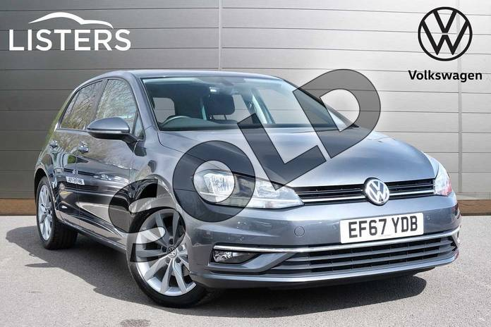 2018 Volkswagen Golf Diesel Hatchback 1.6 TDI GT 5dr DSG in Indium Grey at Listers Volkswagen Leamington Spa