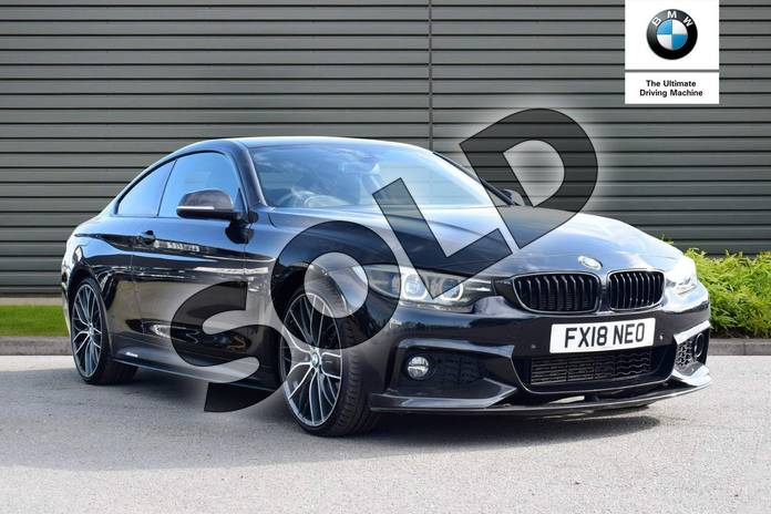 Picture of BMW 4 Series 420d (190) M Sport 2dr Auto (Professional Media) in Black Sapphire metallic paint