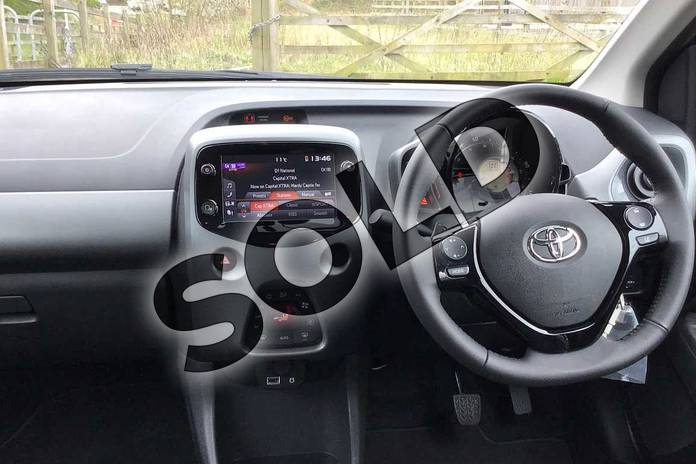 Image five of this 2021 Toyota Aygo Hatchback 1.0 VVT-i X-Trend TSS 5dr x-shift in Grey at Listers Toyota Nuneaton