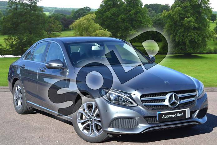 2018 Mercedes-Benz C Class Saloon C200 Sport 4dr 9G-Tronic in selenite grey metallic at Mercedes-Benz of Grimsby