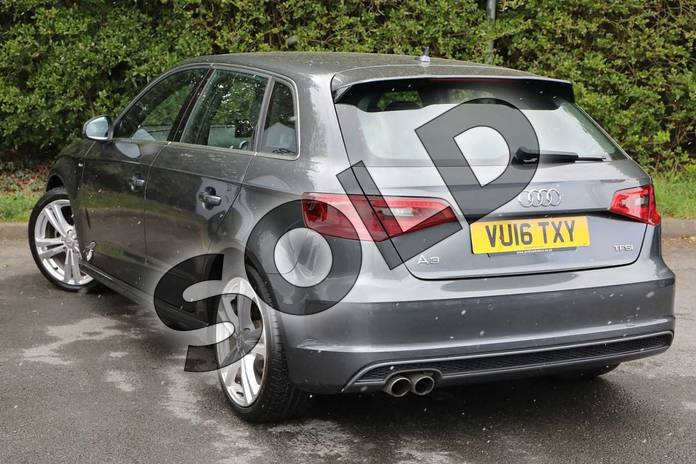 Image three of this 2016 Audi A3 Sportback 1.4 TFSI 125 S Line 5dr S Tronic (Nav) in Daytona Grey Pearlescent at Worcester Audi