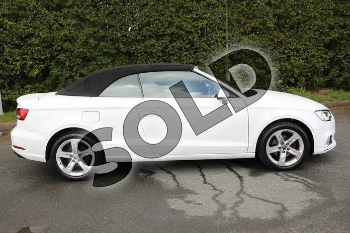 Image four of this 2017 Audi A3 Diesel Cabriolet 1.6 TDI Sport 2dr in Ibis White at Worcester Audi