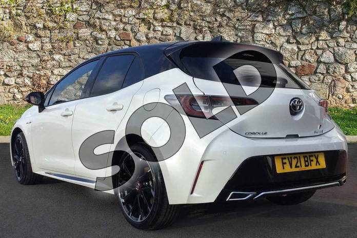 Image four of this 2021 Toyota Corolla Hatchback 1.8 VVT-i Hybrid GR Sport 5dr CVT in Bi-Tone Glacier Pearl White at Listers Toyota Grantham