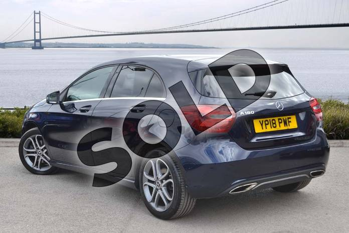 Image two of this 2018 Mercedes-Benz A Class Hatchback A180 Sport Edition 5dr in Cavansite Blue metallic at Mercedes-Benz of Hull