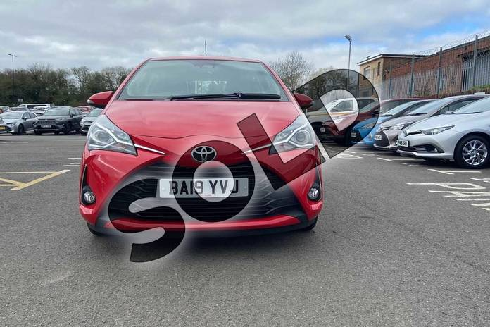 Image fifteen of this 2019 Toyota Yaris Hatchback 1.5 VVT-i Icon Tech 5dr in Chilli Red at Listers Toyota Coventry