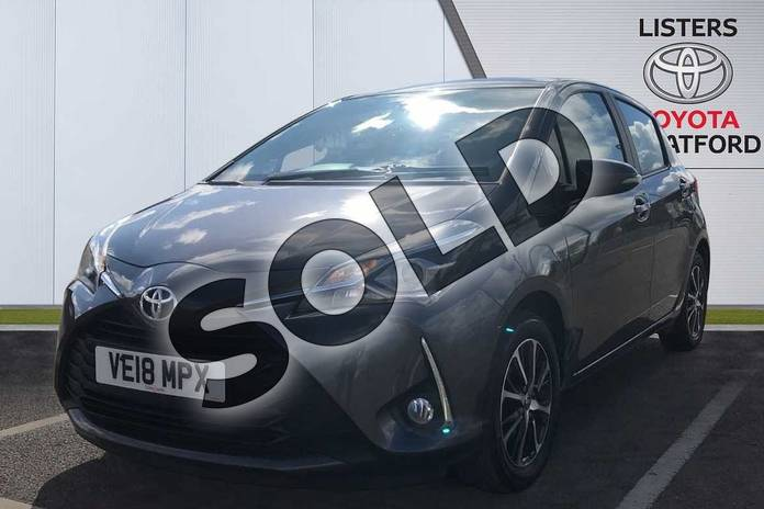 Image three of this 2018 Toyota Yaris Hatchback 1.5 VVT-i Icon Tech 5dr in Grey at Listers Toyota Stratford-upon-Avon