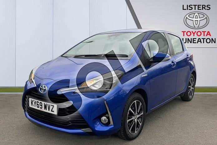 Image three of this 2019 Toyota Yaris Hatchback 1.5 Hybrid Icon Tech 5dr CVT in Blue at Listers Toyota Nuneaton
